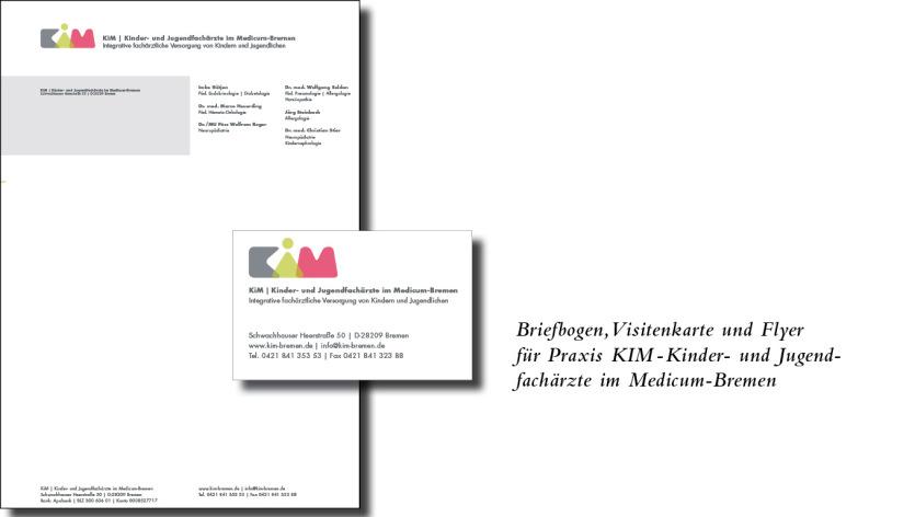 Briefbogen, Visitenkarte Kinder- und Jugendfacharztpraxis Medicum-Bremen