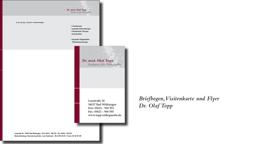 Briefbogen, Visitenkarte