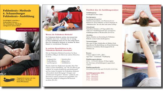 Flyer für einen Feldenkrais-Trainer