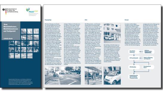Flyer für das Bundesministerium für Verkehr, Bau- und Stadtentwicklung