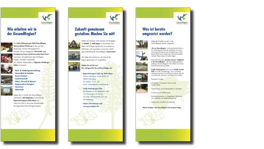 Roll-Ups für das EU-Projekt  GesundRegion Niedersachsen