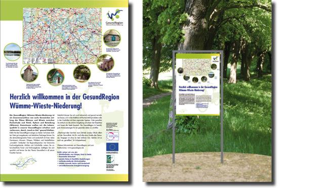 Plakate für Rastplätze für das EU-Projekt  GesundRegion Niedersachsen
