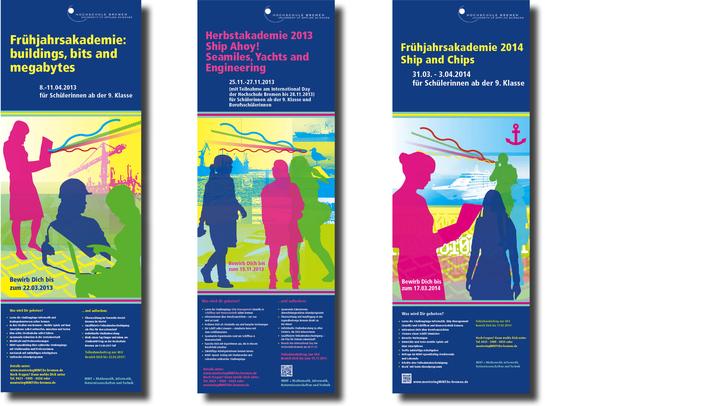 Plakat für die Hochschule Bremen zur Frühjahrsakademie