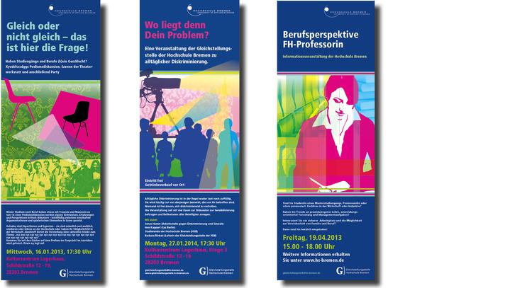 Plakate für die Hochschule Bremen
