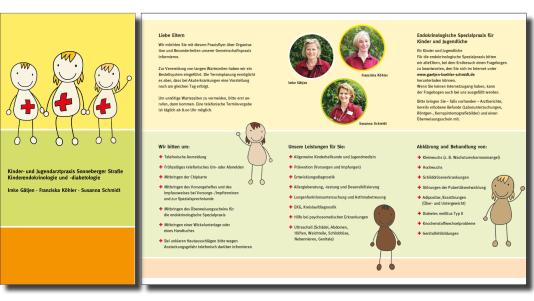 Flyer für eine Orthopädische Praxis